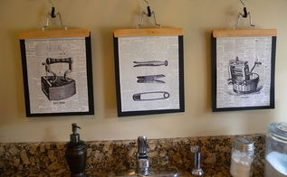 how to make graphic laundry room art, crafts, laundry rooms, wall decor, Any cool looking paper works