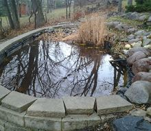 crown point pond renovation, landscape, outdoor living, ponds water features, Before
