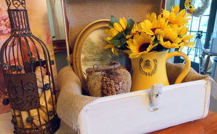 vintage vanity case makeover, home decor
