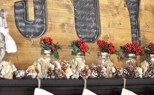 how to design rustic woodland christmas mantel, christmas decorations, fireplaces mantels, seasonal holiday decor