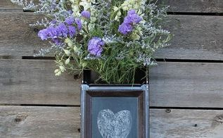 turn a safety deposit box into chalkboard note piece, chalkboard paint, crafts, home decor, repurposing upcycling