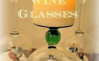 diy stemware snow globes, seasonal holiday decor