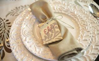 thanksgiving tablecloth using stencils, painting, seasonal holiday decor, thanksgiving decorations