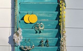 how to turn a old shutter into jewelry holder, organizing, repurposing upcycling