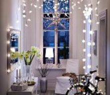 decor ideas with string lights, home decor, lighting