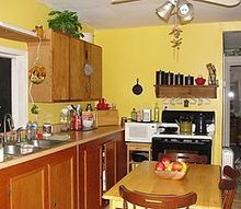 q paint in kitchen ideas, kitchen design, It was much more bright and cheery here but I would like to see warm and inviting cozy