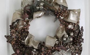 holiday wreath that works for thanksgiving and christmas, crafts, wreaths