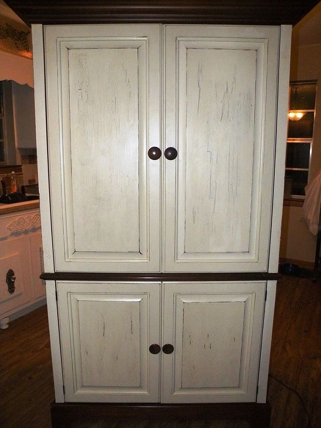 ideas for redo of an armoire, painted furniture, after