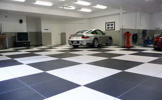 how to set up a classic auto garage, garages, tile flooring, tiling