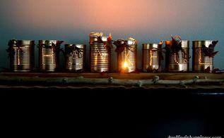 how to make tin can luminaries, repurposing upcycling, seasonal holiday decor