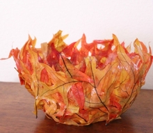 how to make a fall leaf bowl, crafts, seasonal holiday decor