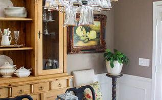 how to mak a wine glass chandelier, lighting
