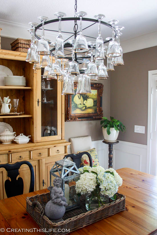 How To Mak A Wine Glass Chandelier Lighting