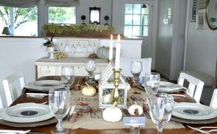 rustic gold thanksgiving table with printable, seasonal holiday decor, thanksgiving decorations