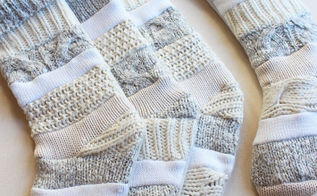 how to make sweater stockings, crafts, repurposing upcycling, seasonal holiday decor