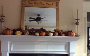 fall decor idea for fireplace, fireplaces mantels, seasonal holiday decor