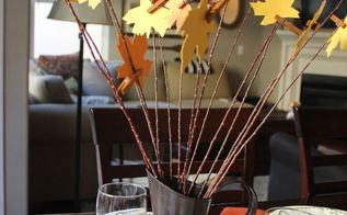 how to make a thanksgiving tree centerpiece, seasonal holiday decor, thanksgiving decorations