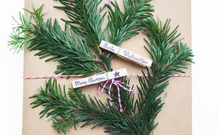 how to make gift tag clothespin, christmas decorations, crafts, repurposing upcycling, seasonal holiday decor