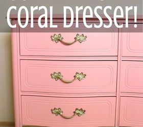 coral gold dipped french provincial dresser painted furniture