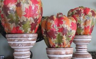 how to make fall mod podge pumpkins, crafts, decoupage, seasonal holiday decor