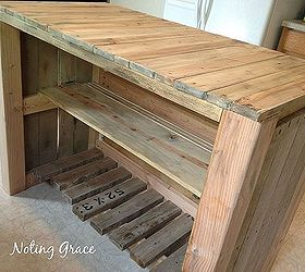 How To Make A Pallet Kitchen Island For Less Than 50 Dollars, Diy, Kitchen