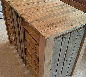 nice How To Create A Kitchen Island #1: how to make a pallet kitchen island for less than 50 dollars, diy, kitchen
