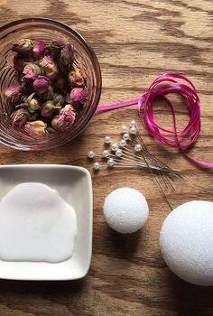 how to make rosebud ornaments, christmas decorations, crafts, seasonal holiday decor