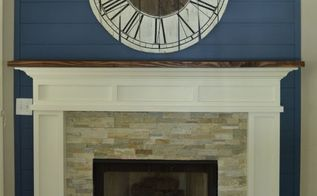 fireplace makeover idea, diy, fireplaces mantels, painting, woodworking projects
