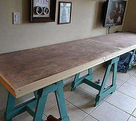 Craft Room Sawhorse Desk Hometalk