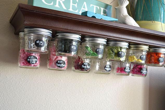 Mason Jar Storage Shelf Idea Hometalk
