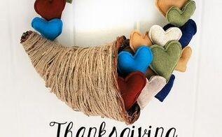 how to make a thanksgiving cornucopia heart wreath, crafts, seasonal holiday decor, thanksgiving decorations, wreaths