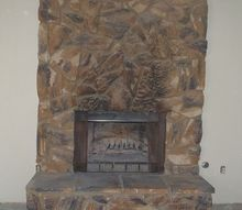 q ideas to update a rock fireplace, concrete masonry, diy, fireplaces mantels, how to