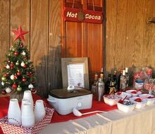 how to set up a holiday hot cocoa bar, seasonal holiday decor