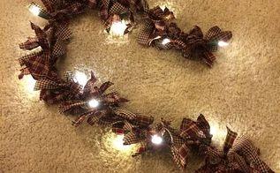 how to make rag light garland, christmas decorations, crafts, seasonal holiday decor
