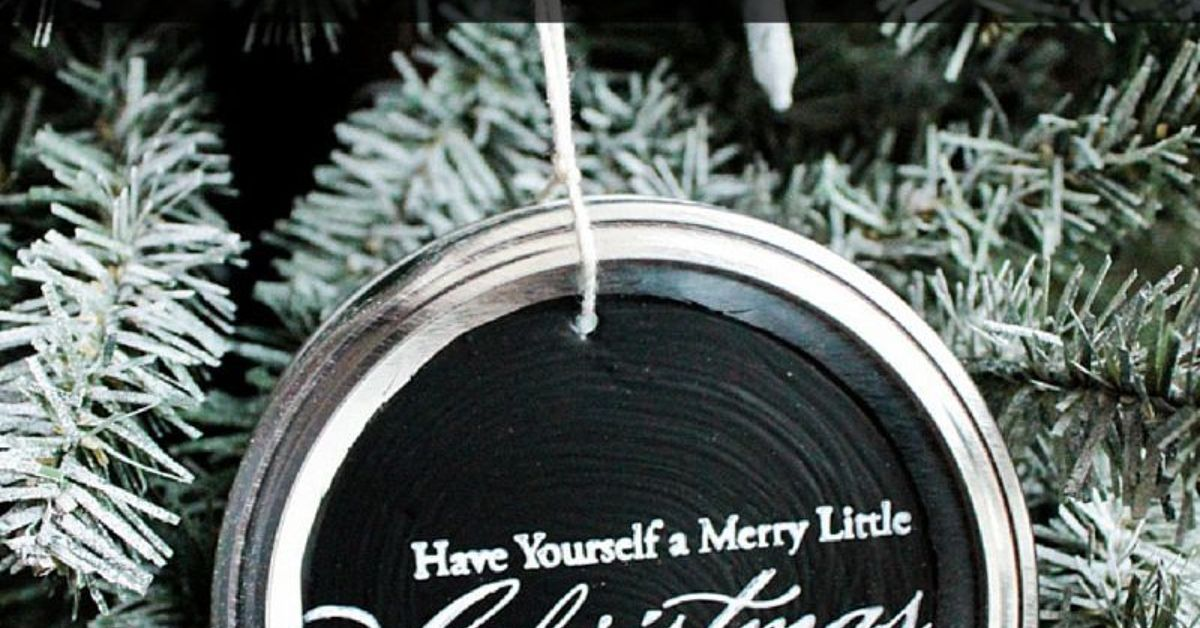 How To Make Chalkboard Mason Jar Lid Ornaments Hometalk