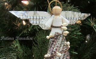 how to make a christmas angel ornament, christmas decorations, crafts, seasonal holiday decor