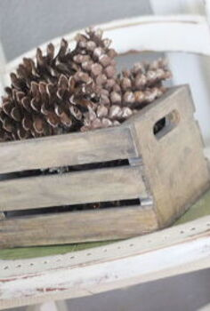 small crate makeover for the holidays, painted furniture, seasonal holiday decor, woodworking projects