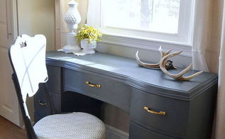 how to give a desk a chalk paint makeover, chalk paint, diy, painted furniture