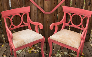 how to use dark brown wax to give chair an aged look, painted furniture