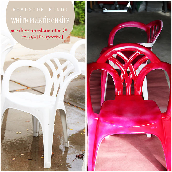 spray paint makeover idea for plain white plastic chairs  outdoor furniture   painted furniture. Makeover Idea For Plain White Plastic Chairs Using Spray Paint