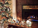 tips for hiding holiday light cords, christmas decorations, electrical, home decor, Setting up my little Christmas Display