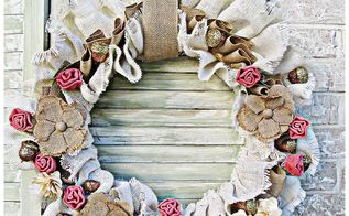 how to make a thanksgiving burlap wreath, crafts, how to, seasonal holiday decor, thanksgiving decorations, wreaths