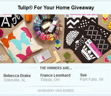 tulip for your home giveaway