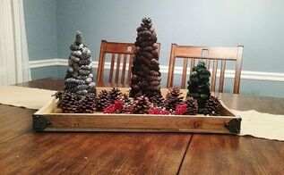 how to make a pine cone christmas tree, christmas decorations, crafts, seasonal holiday decor
