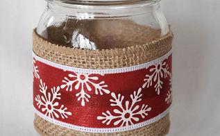 how to make mason jar vases for the holidays, crafts, mason jars, seasonal holiday decor