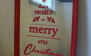 pottery barn inspired mirror christmas sign decor idea, christmas decorations, crafts, seasonal holiday decor