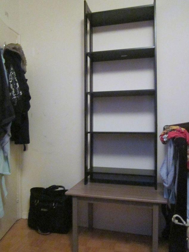 ikea hack how to turn laiva bookcase into a closet, closet, diy - Ikea Hack: From Bookcase To Custom Closet Hometalk