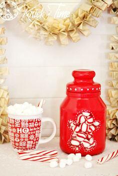 easy gingerbread man christmas candy jar, christmas decorations, crafts, seasonal holiday decor