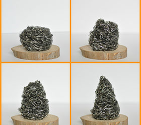 Great How To Make A Scouring Pad Mini Christmas Tree Craft, Christmas  Decorations, Crafts,