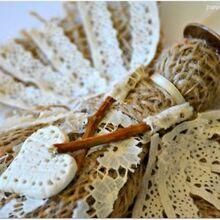 burlap angel christmas ornament, christmas decorations, crafts, how to, seasonal holiday decor